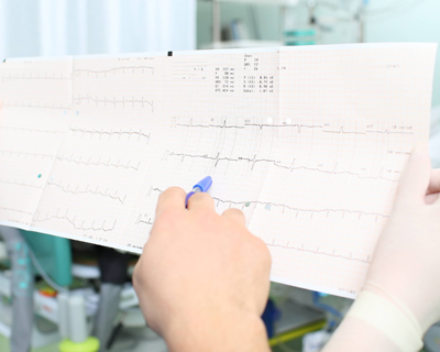 interpretive cardiogram of patient in hospital